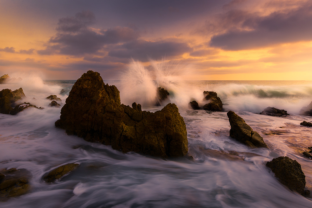 A fine art nature photograph taken of Little Corona Beach in California by Bryce Mironuck